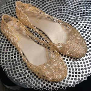 Rose Gold Jelly Flats!